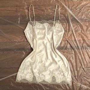 Victoria's Secret White Lace Slip